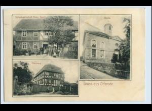 W0Y76/ Bad Sooden-Allendorf Gruß aus Orferode Kirche, Gasthaus H. Speck AK 1907