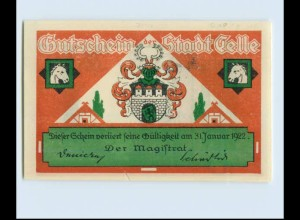 W0Z33/ Notgeldschein Stadt Celle 1922 Landgestüt Pferde