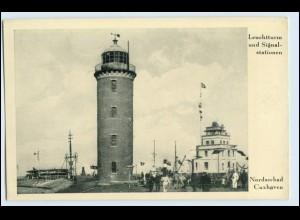 W0Z57/ Cuxhaven Leuchtturm und Signalstation AK ca.1935