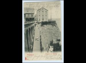 W0Z64/ Helgoland Treppe n.d. Oberland schöne AK 1903