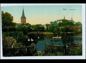 N6552-2320/ Plön Schwanensee schöne AK ca.1912