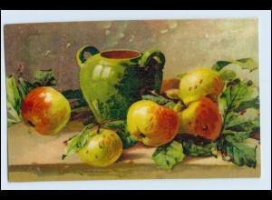 W1D53/ Stilleben Obst Äpfel Litho AK