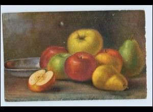 W1D57/ Stilleben Obst Äpfel und Birnen AK