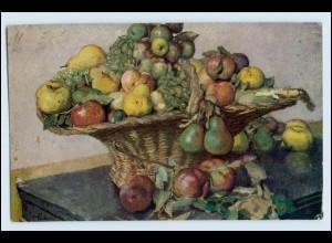 W1D56/ Stilleben Obst Obstkorb AK