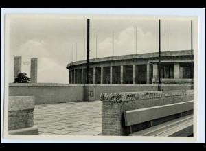 W1F78/ Olympiade Blick vom Schwimmstadion aufs Osttor Berlin Foto AK