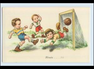 W1L44/ Fußball schöne Kinder AK ca.1925