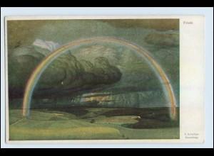 W1L53/ Frieden - Regenbogen Künstler AK 1919