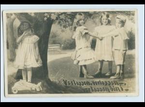 N5449/ Verlassen, Verlassen.. Kinder Fotomontage NPG Foto AK 1910