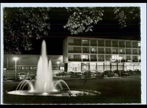 W1P63/ Reutlingen Parkhotel bei Nacht AK ca.1960
