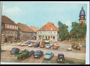 W1P32/ Waren Müritz Markt AK Autos