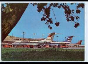 W1P46/ Berlin Flughafen Schönefeld AK Interflug Flugzeuge