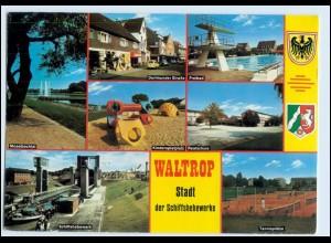 W1R44/ Waltrop Freibad Schiffshebewerk Moselbachtal AK