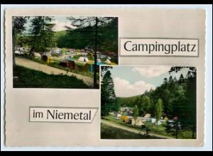 W1U85/ Löwenhagen Bramwald Campingplatz im Niemetal 1966 AK