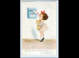 T1011/ Briefkasten Mädchen mit Brief John Wills AK 1938