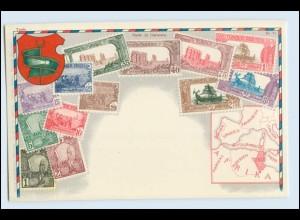 T1013/ Briefmarken Litho AK Tunis Tunesien ca.1925