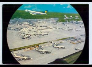 Y894/ Frankfurt M. Flughafen Flugzeuge AK ca.1970