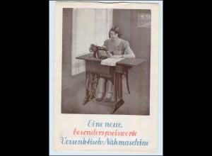 c404/ Singer Versenktisch-Nähmaschine Werbeblatt 1933