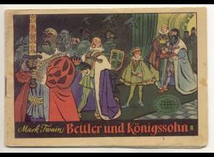 c410/ 2 Comic Hefte Mark Twain Bettler und Königssohn DDR 1958