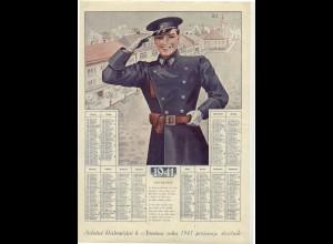 c417/ Kalender 1941 Neujahr Constable Polizei