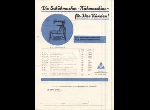 c421/ Schumacher Nähmaschine Werbung DIN A 4 ca.1935