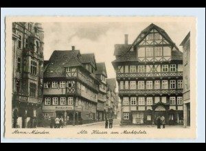 A0757/ Hann. Münden Alte Häuser am Marktplatz Foto AK