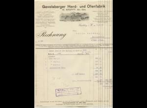 c440/ Rechnung Gevelsberg Herd- und Ofenfabrik 1912