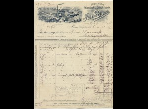 c441/ Rechnung Ahaus Westf. Schuhfabrik Joh. Dües Schuhe 1901
