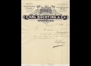 c433/ Brief Rechnung C. Büchting Hannover 1911 Bekleidung Hemden Hosen