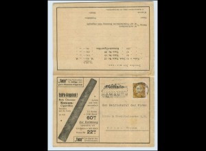 "W8X76/ Zigarren ""TACO"" Reklame AK mit Bestellkarte 1928"