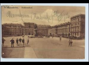 W2M28/ Mannheim Schloßhof 1906 AK
