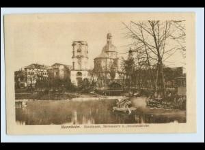 W2M37/ Mannheim Stadtpark Sternwarte und Jesuitenkirche AK