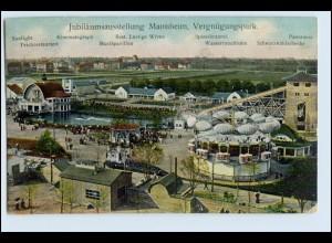 W2L13/ Mannheim Jubiläums-Ausstellung AK 1907 Vergnügungspark