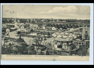 W2L10/ Mannheim Jubiläums-Ausstellung AK 1907 Vergnügungspark