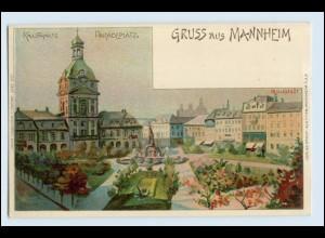 W2K91/ Grußn aus Mannheim Litho Künstler AK P. Lückstädt ca.1900