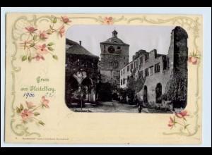W2K89/ Gruß aus Heidelberg schöne AK 1900