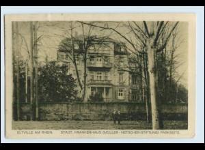 W2N04/ Eltville am Rhein Städt. Krankenhaus 1927 AK