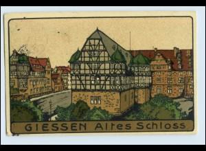 W2P07/ Gießen Steinzeichnung Litho AK 1913