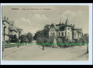 W2N39/ Gießen Berg- und Gartenstr. AK 1918