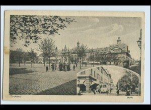 W2T20/ Hanau Markt Straßenbahn AK 1918