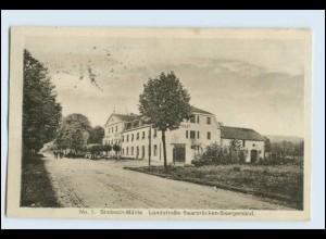 W2W07/ Sumbach-Mühle Landstr. Saarbrücken - Saargemünd AK ca.1920