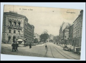 W2V85/ St. Johann a. Saar Reichsstr. AK 1906