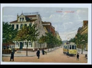W2W93/ Landau Ostbahnstr. Straßenbahn AK 1918