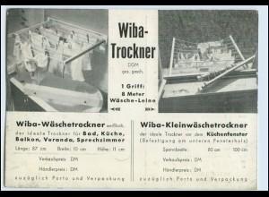 W2X48/ Wiba-Trockner Wäschetrockner Franz Knapp Wiesbaden AK ca.1935