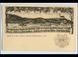 W3C26/ Nackenheim a. Rh. schöne AK ca.1920 Wappen