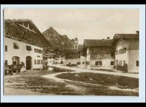 W3C92/ Mittenwald Unterer Markt Trinks Foto AK 1927 + Bahnpost