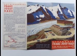 C4393/ Alpenhotel Franz Josef Haus Großglockner Kärnten Faltblatt ca.1935