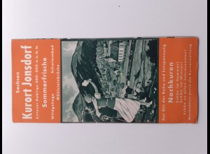 C4397/ Kurort Jonsdorf Sachsen Faltprospekt 1935/36 mit Wohnungsnachweis