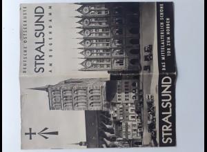 C4400/ Stralsund schöner Faltprospekt 1935