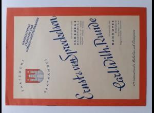 C4409/ Hamburg Saathandel Handelspreise 1960, Ernst von Spreckelsen, Heft