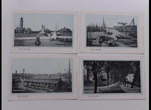 Y19538/ 4 x AK KIEL Werft, Hafen usw. ca.1912